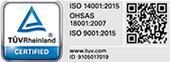 TUV ISO 14001:2015