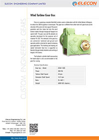 elecon product catalog for Medium Wind Turbine Gearbox - SDNK 1400