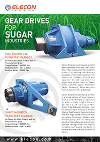 elecon product catalog for PLANETARY GEARBOX  FOR SUGAR MILL-FOOT MOUNTING