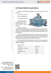 elecon product catalog for AIR PREHEATER DRIVE GEARBOX