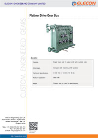elecon product catalog for Flattner Drive Gear Box