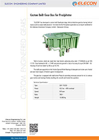 elecon product catalog for Custom Built Gear Box for Precipitator