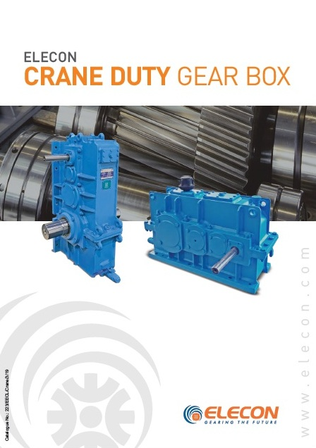elecon product catalog for CRANE DUTY GEAR BOX