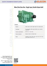 elecon product catalog for Mixer Drive Gear Box Single Input, Double Output shaft