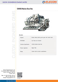 elecon product catalog for CODOG Gearbox