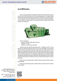 elecon product catalog for ASSEL MILL DRIVE GEARBOX