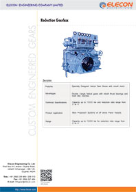 elecon product catalog for MARINE REDUCTION GEARBOX