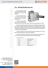 elecon product catalog for Coiler / Uncoiler, Tension Reel & Pay-Off Reel Gear Box