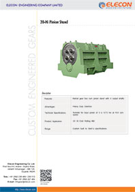 elecon product catalog for 20-Hi PINION STAND GEARBOX