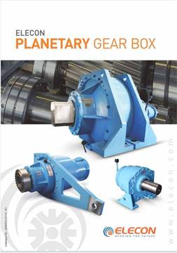 elecon product catalog for PLANETARY GEARBOX MEDIUM SIZES