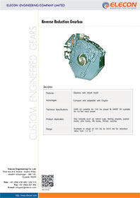 elecon product catalog for REVERSE REDUCTION GEARBOX