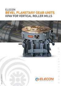 elecon product catalog for VERTICAL ROLLER MILL DRIVE GEARBOX