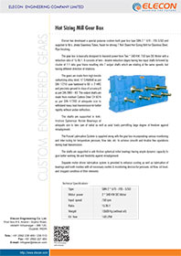 elecon product catalog for HOT SIZING MILL GEAR BOX