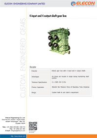 elecon product catalog for 4 INPUT 4 OUTPUT SHAFT GEARBOX
