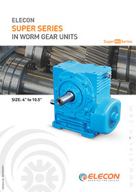 elecon product catalog for WORM GEAR MEDIUM SERIES