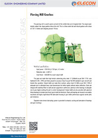 elecon product catalog for Piercing Mill Gearbox