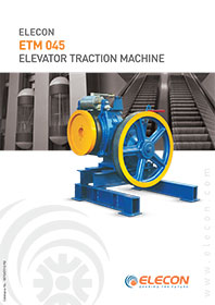 elecon product catalog for Elevator Traction Machine - ETM 045