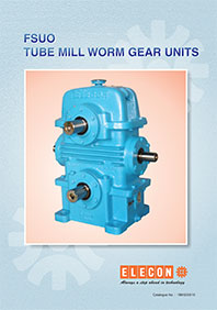 elecon product catalog for TUBE DRAWING MILL GEAR UNIT