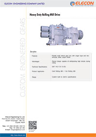 elecon product catalog for HEAVY DUTY ROLLING MILL DRIVE