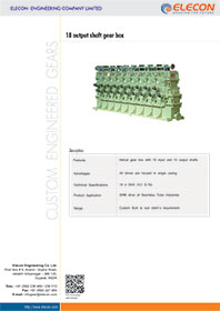 elecon product catalog for 18 OUTPUT SHAFT GEARBOX FOR SRM