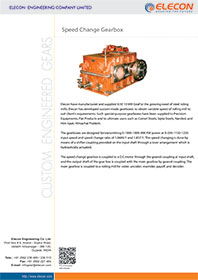 elecon product catalog for SPEED CHANGE GEARBOX