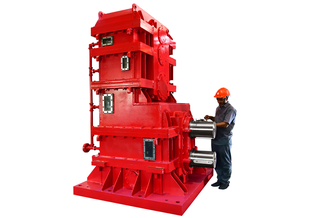 elecon  3 STAGES, VERTICAL, HELICAL GEAR BOX CUM PINION STAND (PINION STAND ROLLING MILL)