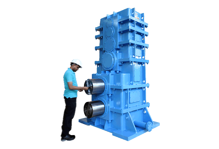elecon product 4 stages, Vertical, Helical Gear Box cum Pinion Stand (Pinion stand Rolling Mill)